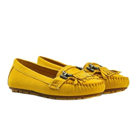 Yellow eco-suede loafers from Maia 1