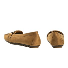 Brown eco-suede loafers from Maia 2