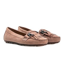 Pink Maia eco-suede loafers 1