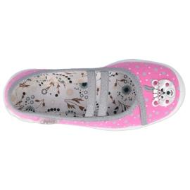 Ballerinas Befado children's shoes 116X284 pink silver grey 2