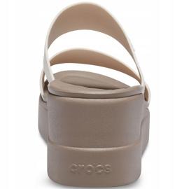 Crocs women's slippers Brooklyn Mid Wedge beige 206219 16T 2
