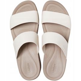 Crocs women's slippers Brooklyn Mid Wedge beige 206219 16T 1