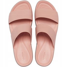 Crocs Women's Slippers Brooklyn Mid Wedge Pink-Beige 206219 6RL 1