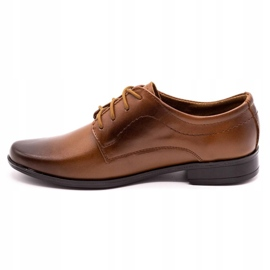 Lukas Children's formal communion shoes J1 brown 1
