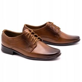 Lukas Children's formal communion shoes J1 brown 2