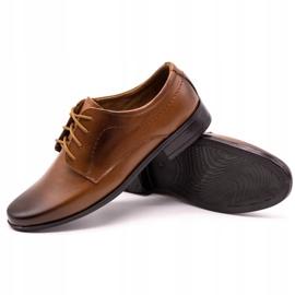 Lukas Children's formal communion shoes J1 brown 3