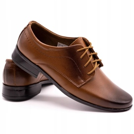 Lukas Children's formal communion shoes J1 brown 4