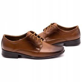 Lukas Children's formal communion shoes J1 brown 5