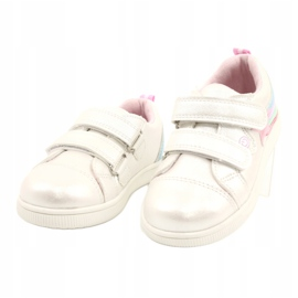 Evento Sports Shoes With Velcro Star white pink silver multicolored 1