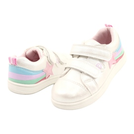 Evento Sports Shoes With Velcro Star white pink silver multicolored 2
