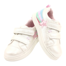 Evento Sports Shoes With Velcro Star white pink silver multicolored 3