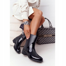 PS1 Shiny Black Jodhpur boots Rainy Day 2