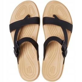 Crocs Women's Sandals Tulum Toe Post Black 206108 00W 1