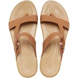 Crocs Women's Sandals Tulum Toe Post Caramel 206 108 277 brown multicolored 1