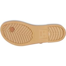 Crocs Women's Sandals Tulum Toe Post Caramel 206 108 277 brown multicolored 3