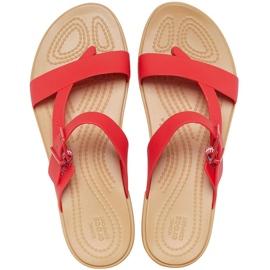 Crocs Women's Slippers Tulum Toe Post red 206108 8C1 1