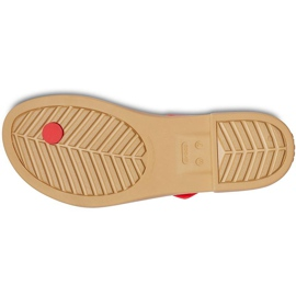 Crocs Women's Slippers Tulum Toe Post red 206108 8C1 3
