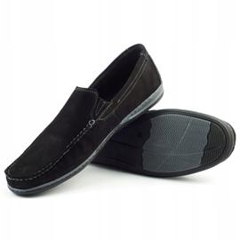 Mario Pala Men's loafers 763 black suede 1