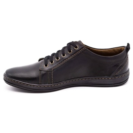 Olivier Men's leather shoes 695MP black brown 1