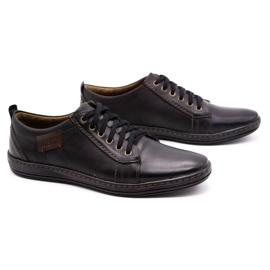 Olivier Men's leather shoes 695MP black brown 2