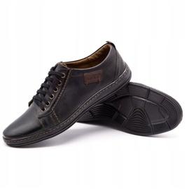 Olivier Men's leather shoes 695MP black brown 3