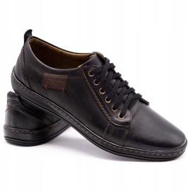 Olivier Men's leather shoes 695MP black brown 4
