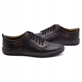 Olivier Men's leather shoes 695MP black brown 5