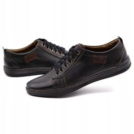 Olivier Men's leather shoes 695MP black brown 6