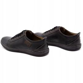 Olivier Men's leather shoes 695MP black brown 7