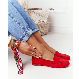 Suede loafers Sergio Leone MK722 Red 4