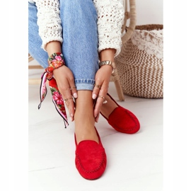 Suede loafers Sergio Leone MK722 Red 2