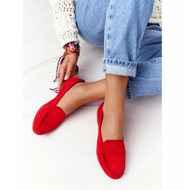 Suede loafers Sergio Leone MK722 Red 3