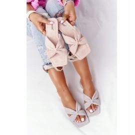 PS1 Women's Pink Velor Slippers Vanilla Sky beige 1