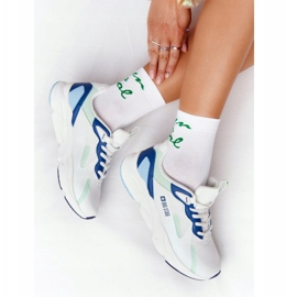 Women's Sport Shoes Memory Foam Big Star HH274810 White-Green blue 5
