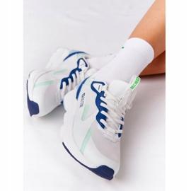 Women's Sport Shoes Memory Foam Big Star HH274810 White-Green blue 6