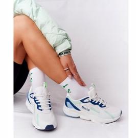 Women's Sport Shoes Memory Foam Big Star HH274810 White-Green blue 1