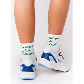 Women's Sport Shoes Memory Foam Big Star HH274810 White-Green blue 3