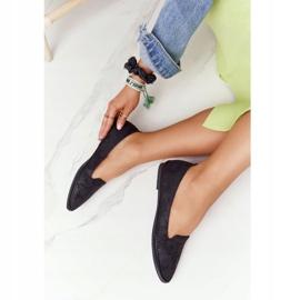Women's Loafers Sergio Leone MK700 Suede Black 2