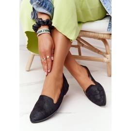 Women's Loafers Sergio Leone MK700 Suede Black 5