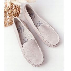 Rio Flore Eco-Friendly Leather Loafers Beige 6