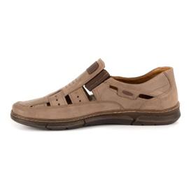 KENT Men's openwork 601 summer brown shoes 1
