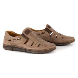 KENT Men's openwork 601 summer brown shoes 2