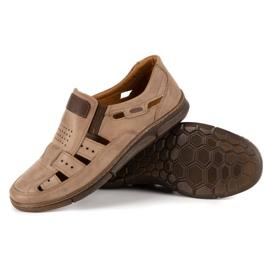 KENT Men's openwork 601 summer brown shoes 3