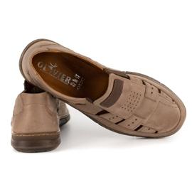 KENT Men's openwork 601 summer brown shoes 4