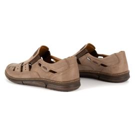 KENT Men's openwork 601 summer brown shoes 6