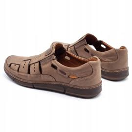 KENT Men's openwork 601 summer brown shoes 7