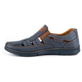 KENT Men's openwork 601 shoes for summer navy blue 1