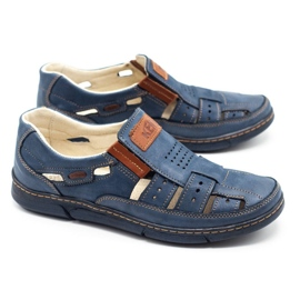 KENT Men's openwork 601 shoes for summer navy blue 2