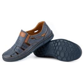 KENT Men's openwork 601 shoes for summer navy blue 4