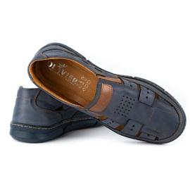 KENT Men's openwork 601 shoes for summer navy blue 5